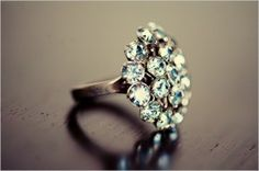 Beautiful vintage ring! I'm a huge fan of diamond clusters!