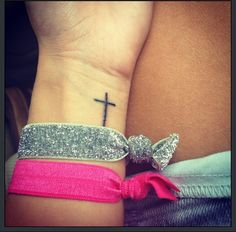 My small cross tattoo.