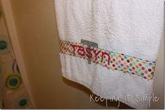 cricut ironon, person towel