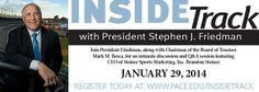 "Brandon Steiner, CEO of Steiner Sports, is our guest speaker at the ""Inside Track with President Stephen J. Friedman"" on 1/29/14."