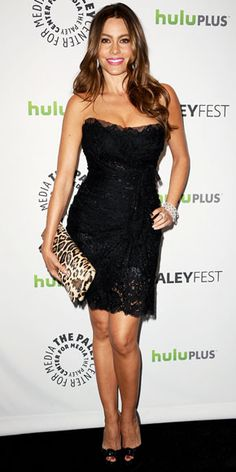 Black Lace Dress  Sofia Vergara - Look of the Day - InStyle
