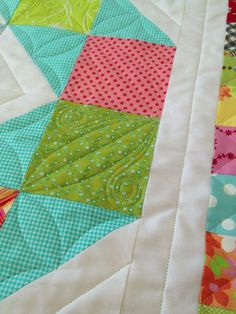 Great ideas for quilting simple patchwork~