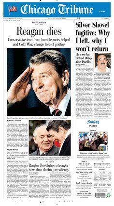 Ronald Reagan dies, 2004.