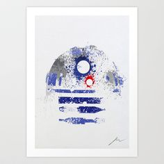Star Wars paint splatter: R2D2 Art Print by Arian Noveir - $18.00