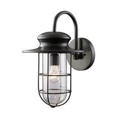 One Light Black Wall Lantern   Legend Lighting Inc.