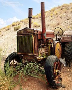Industrial Decor Vintage Tractor Photograph by summerowens