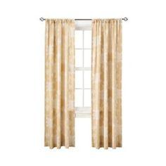 Gold Henna Single Window window panel (Living room curtains) <3