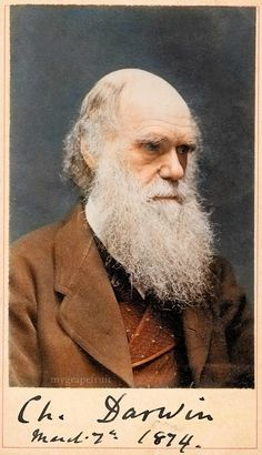 Great colorized photo of Charles Darwin
