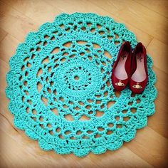 Free Crochet Rug Patterns Australia : Crochet Rugs on Pinterest Doily Rug, Crochet Rugs and ...