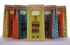 Coffee packaging.