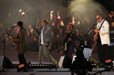 The Who performs at the closing ceremonies of the 2012 London Olympics.