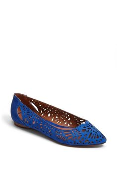 blue perforated flat