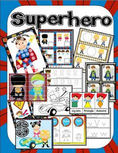 idea, super hero preschool theme, educ, superhero preschool theme, preschool pack, prek pack, preschool printabl, preschools, superhero theme