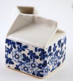 handbuilt milk carton