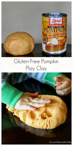 Play and eat with this fun No Cook Gluten Free Edible Pumpkin Pie Play Clay from Fun at Home with Kids