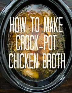 How To Make Chicken Broth In A Crock Pot! | Soletshangout.com #chickenbroth #crockpot #paleo #primal #glutenfree #fromscratch #guthealting #jerf