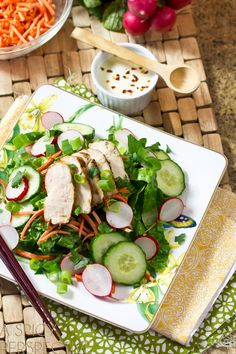 Banh Mi Style Vietnamese Salad | A Spicy Perspective #Vietnamese #healthy #salad