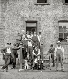 """New York circa 1900. """"Stewards and nurses, Brooklyn Navy Yard hospital."""