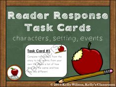 Reader Response Task Cards (ELA, story elements, character, setting, events) from Kelly Wilson on TeachersNotebook.com -  (23 pages)  - Reader Response Task Cards (ELA, story elements, character, setting, events)  These reader response task cards can be used in many ways. For example, they can be used if students complete their assign