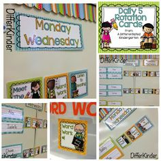 Organizing Daily 5 Literacy Stations in Kindergarten and ...a freebie for you.