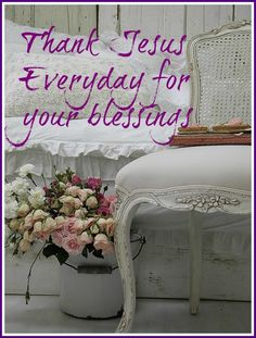 Thanks Jesus every day!