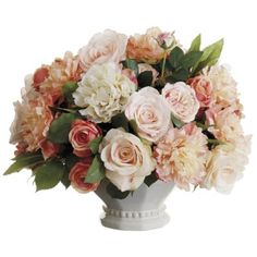 Peony/ Rose/ Berry Silk Floral Centerpiece ARWF3947