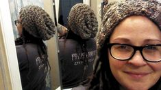 Zig Zag Patterned Loom Knit Hat by Down Home Girl