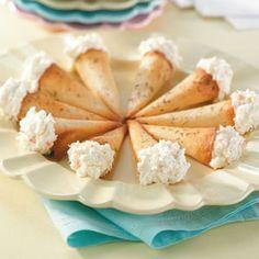 Crab-Stuffed wanton Cones