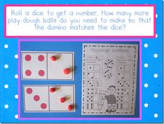 Domino Math (see site for other ideas) playdoh, number