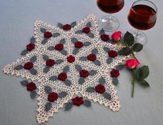 Winsome Roses by Kathryn White mainlycrochet.com