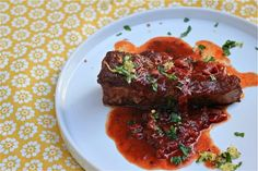 Recipe: Red Wine-Braised Short Ribs With Lemon-Herb Gremolata