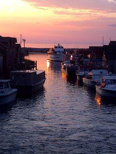 Fishtown at Sunset, Leland, MI