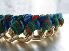 Friendship Bracelet for Grownups  Gold Bracelet woven by MySpinka, $35.00
