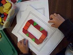 Number cards for pattern blocks