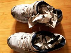 Wet Shoe Tip: After those hot humid runs and as we move into the fall and the rainy weather, your shoes will often get water logged.  When your shoes get totally soaked in the rain, simply stuff them with newspaper and leave them overnight. In the morning, they will be perfectly dry. Its magic!