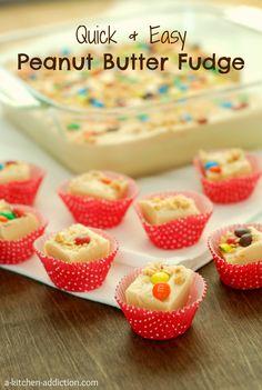 {A Kitchen Addiction} Quick & Easy Peanut Butter Fudge