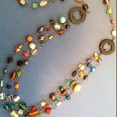 Beaded wire necklace