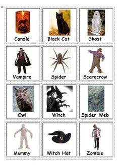 Free! Autism & Special Needs Communication Cards,PECS - Halloween