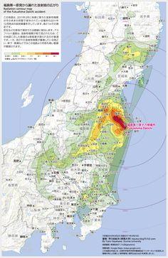 Hayakawa Map of Radioactive Contamination (6th revision)