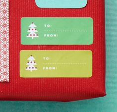 Print our Christmas tree clip-art labels onto precut adhesive paper, peel, and stick on your gift. Courtesy of HP