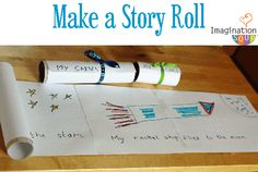 Make and Write a Story Roll by imaginationsoup #Kids #Literacy #Story_Roll #imaginationsoup