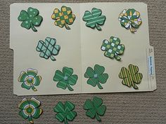 shamrock pattern matching file folder game for St. Patrick's Day