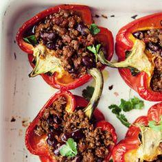 + Chili con carne w paprykach - Przepis