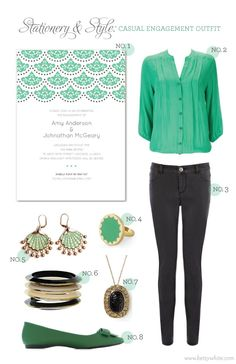 Stationery & Style: Casual Engagement Outfit