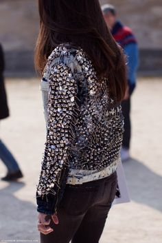 embellished denim jacket.