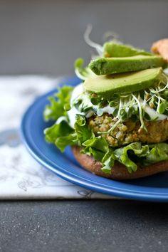 Falafel veggie burger.