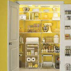 yet another closet-turned pantry