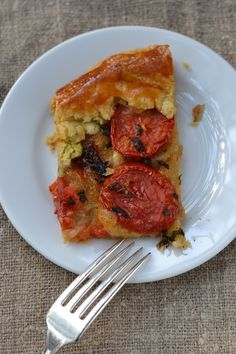 Plum Tomato and Caramelized Onion Crostada with Gruyere