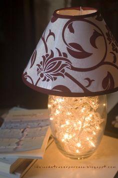 Ideias de trazer por casa: Luminária de vidro com luzes de Natal