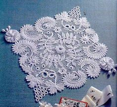Share Knit and Crochet: Beautiful flowers pad (graphic) click link on page for charts